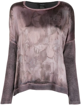 Avant Toi Abstract Print Jumper