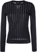 A.P.C. 'Annabelle' pointelle-knit sweater - women - Silk/Cotton/Cashmere - S