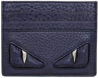 Fendi Blue Bag Bugs Card Holder