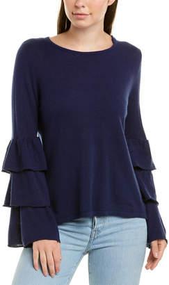 Hannah Rose Silk & Cashmere-Blend Pullover