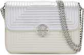 Tory Burch Duet chain trapunto leather shoulder bag