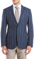 Zanetti Navy Stripe Wool Sport Coat