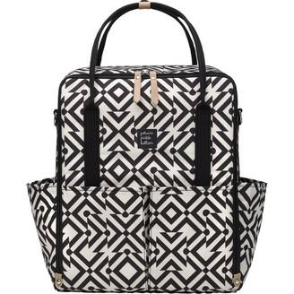 Petunia Pickle Bottom Inter-Mix Backpack Diaper Bag, Mazes of Milano Black