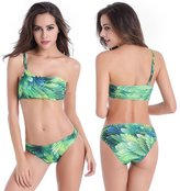 Ya Lida Shoulder oblique fashion sexy floral bikini swimsuit big yards Ms. M-6XL