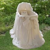 Lulla Smith Edinburgh Organic Fleece and Laundered Linen Bassinet- All Colors