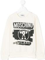 Moschino Kids - logo printed sweater - kids - Cotton/Spandex/Elastane - 4 yrs