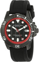 Stuhrling Original Men's Aquadiver Regatta Atlantis Sport Swiss Quartz Divers Date Rubber Strap Watch 328R.335675