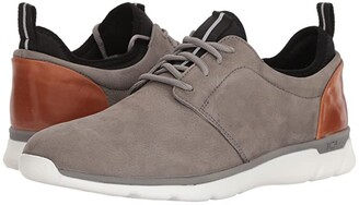 Johnston & Murphy Waterproof Prentiss XC4(R) Casual Dress Plain Toe Sneaker (Gray Waterproof Tumbled Nubuck) Men's Shoes