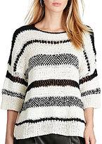 Polo Ralph Lauren Boxy Stripe Cotton-Blend Sweater