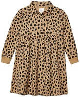 HUXBABY Animal Spot Shirtdress (Little Kids/Big Kids) (Sand) Girl's Clothing