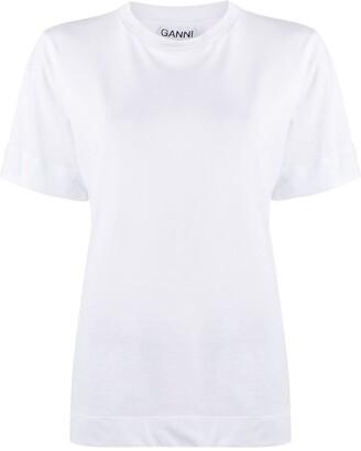 Ganni crew-neck short-sleeve T-shirt