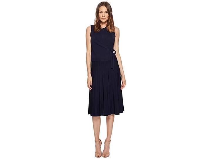 Yigal Azrouel Wrap Front Pleated Skirt Dress Women's Dress