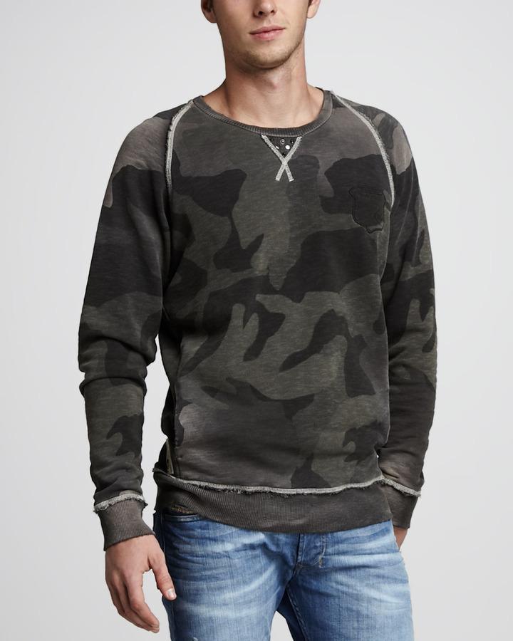 Diesel Sicak Camo-Print Sweatshirt