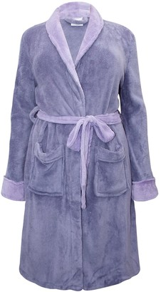 La Redoute Womens Super Quality Lilac Purple Plus Size Dressing Gown House Coat from (Size 14/16)