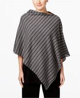 Eileen Fisher Striped Asymmetrical Poncho, Regular & Petite