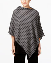 Eileen Fisher Striped Asymmetrical Poncho