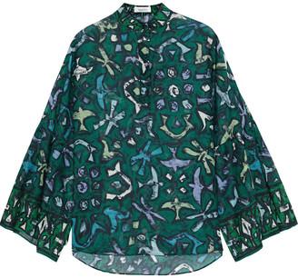 Valentino Printed Cotton-voile Shirt