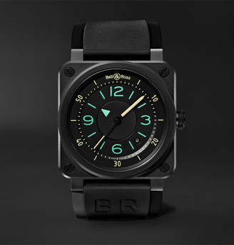 Bell & Ross Br 03-92 Automatic 42mm Steel And Leather Watch