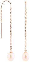 Bella Pearl Pearl & Rose Goldtone Threaders