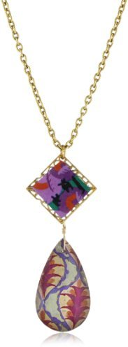 """Lenora Dame """"Bohemian"""" Small Crystal Drop and Filigree Necklace"""