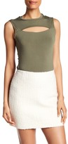 Bailey 44 Front Cutout Sleeveless Shirt