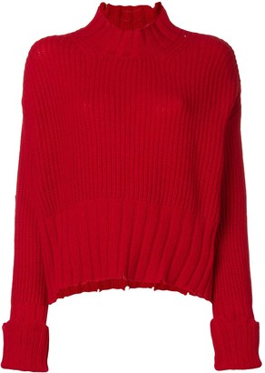 MSGM High Neck Knit Sweater