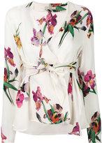 Etro v-neck wrap blouse - women - Silk - 38