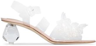 Simone Rocha Bead And Pearl-Embellished 70mm Sandals