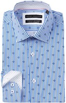 Report Collection Oxford Striped Print Slim Fit Dress Shirt