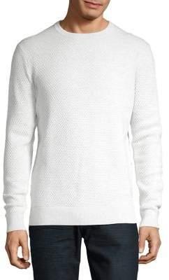 Black & Brown Black Brown Bubble Stitched Crewneck Sweater