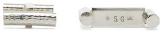 Samuel Gassmann - Neglige Sterling-silver Cufflinks - Mens - Silver