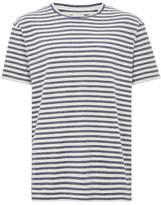 Topman LTD Navy Stripe Short Sleeve Towelling T-Shirt
