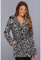 Dollhouse Kate Floral Blanket Coat (Black/White) - Apparel