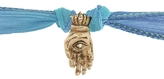 Catherine Michiels Mudra Yellow Gold Charm & Silk Bracelet Wrap
