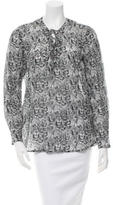 Roseanna Printed Long Sleeve Blouse w/ Tags