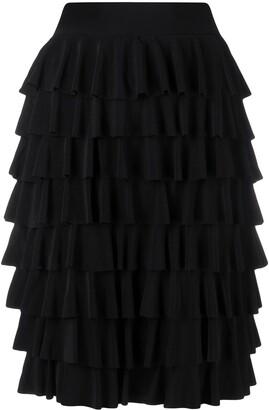 Norma Kamali Knee-Length Ruffled Skirt