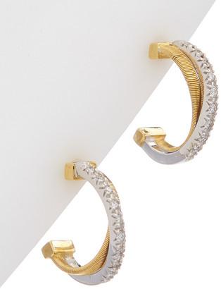 Marco Bicego Goa 18K Two-Tone 0.14 Ct. Tw. Diamond Multi-Strand Hoops