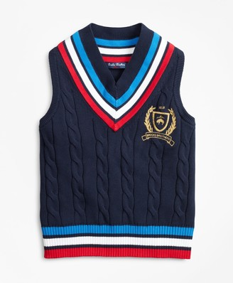 Brooks Brothers Boys Cotton Tennis Sweater Vest