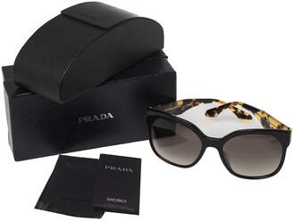 Prada Tortoise/Black SPR 10R-F Oversized Gradient Sunglasses