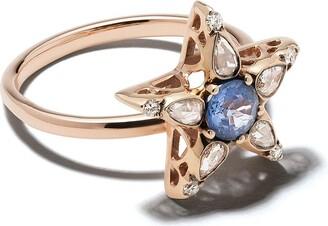 Selim Mouzannar 18kt rose gold sapphire diamond Star ring