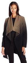 BB Dakota Women's Kinney Ombre Drape Front Coat