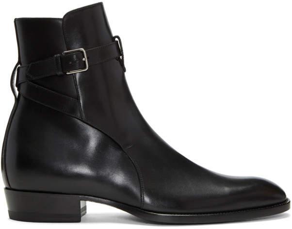 Saint Laurent Black Wyatt Jodhpur Boots