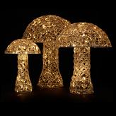 John Lewis LED Acrylic Crystal Mushroom, Set of 3