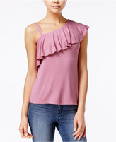 Almost Famous Juniors' Ruffled One-Shoulder Top