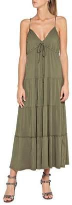 Replay Khaki Midi Dress - Small - Green