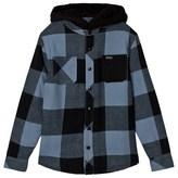 Animal Blue Long Sleeve Hooded Shirt