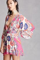 Forever 21 FOREVER 21+ Blush Noir Floral Kimono Dress