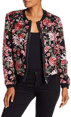 DOLCE CABO Floral Embroidered Bomber Jacket