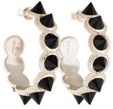 Amrapali Surya Onyx Spike Hoop Earrings