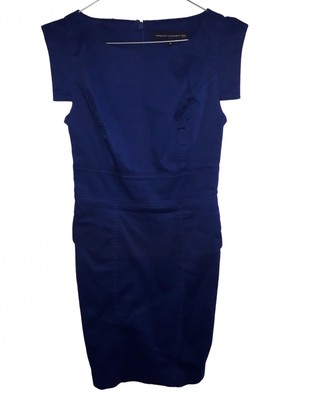 French Connection Blue Cotton Dress for Women